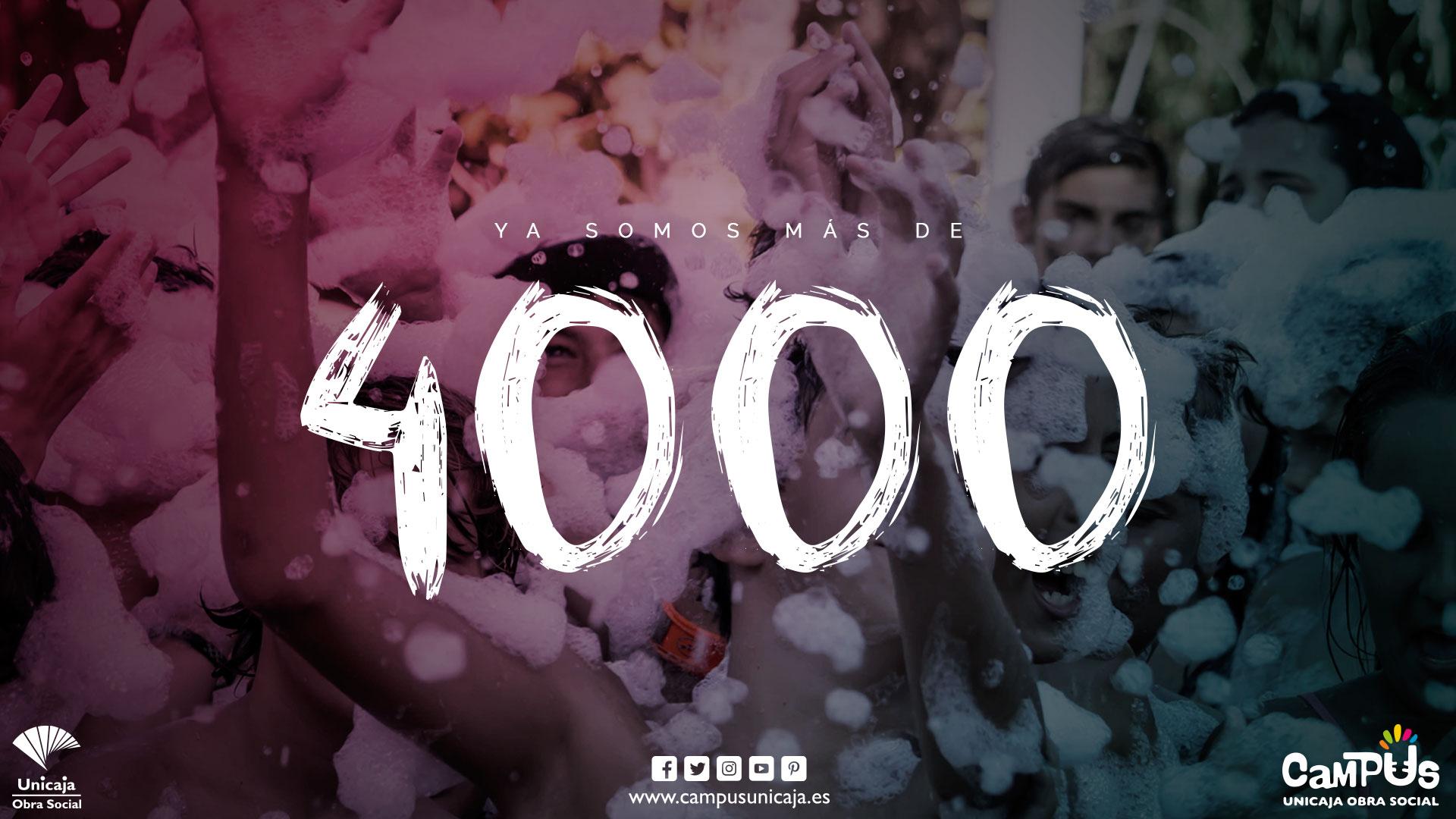 ¡Superamos Las 4000 Inscripciones!